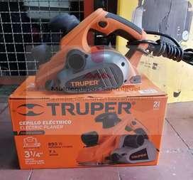 Cepillo eléctrico para madera Truper