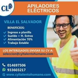 Se requiere OP. de Apiladores/Villa El Salvador