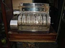Caja Registradora National Labrada en Bronce antigua 1890