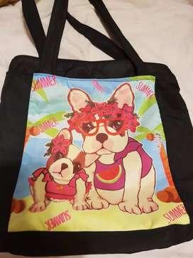 Bolso estampado de perro