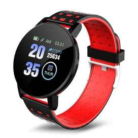 Smartwatch Reloj Inteligente Bluethoot iPhone Y Android Rojo Mensajes de Whatsapp Monitor de ejercicios, fotos remotas