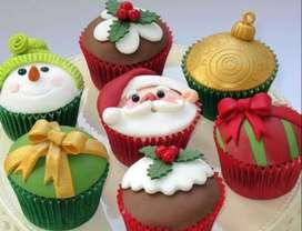 Cupcakes 6 tortas navideñas