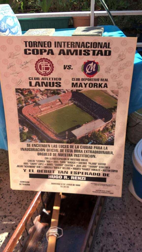 antiguo cartel o afiche del club Lanús 0