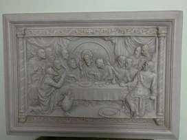 Cuadro Marmol Carrara Ultima Cena Apto Comedor u hogar geriatrico Iglesia