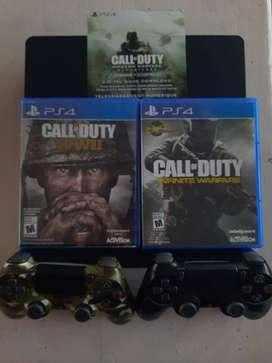 Vendo PlayStation PS4 Slim 500GB + 2 Controles Joysticks y Juegos