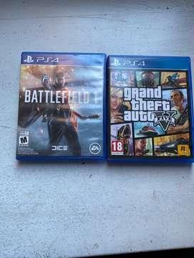 ¡Se vende GTA5 y battlefield 1!