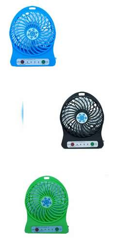 Mini ventilador portátil recargable de 3 velocidades + linterna. (PAGO CONTRAENTREGA)