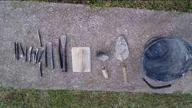 conjunto de herramientas de albañil