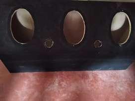 Cajón personalizado para parlantes ovalados