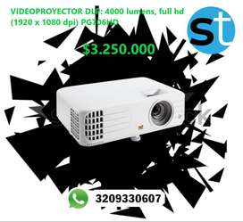 VIDEOPROYECTOR DLP 4000LUMENS FULL HD (1980 X 1080 DPI) PG706HD