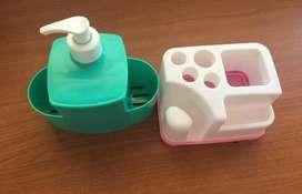 Dispenser para Detergente Y Portacepillo