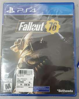 Video Juego Ps4 Fall Out 76