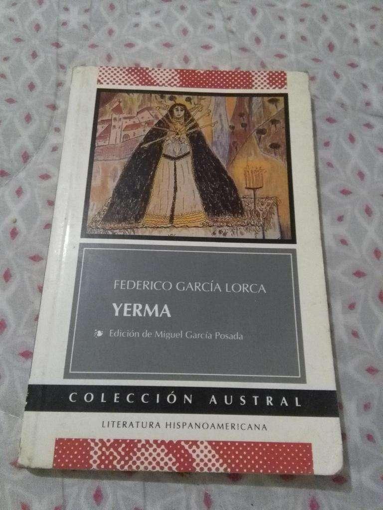 YERMA . FEDERICO GARCIA LORCA . COLECCION AUSTRAL ESPASA CALPE 0