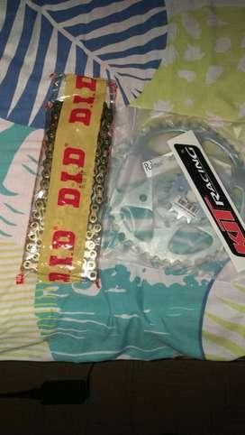 Kit racing cadena dorada