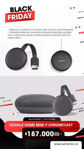 Google Home mini y chromecast