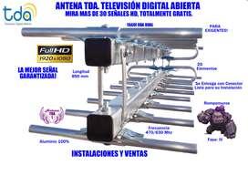 ANTENA TV DTDA YAGUI DUAL 20 ELEMENTOS ,GRAN ALCANCE!! LA MEJOR SEÑAL