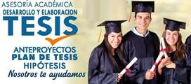 ASESORÍA DE TESIS SOBRE REQUISITOS CIENTÍFICOS METODOLÓGICOS Y DE FORMA, ORIENTADOS POR LA UNIVERSIDAD PARA FIN PROYECTO