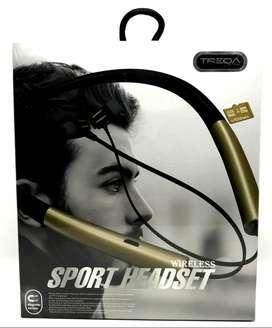 Audifonos deportivos inalambricos TREQA Bluetooth/MicroSD