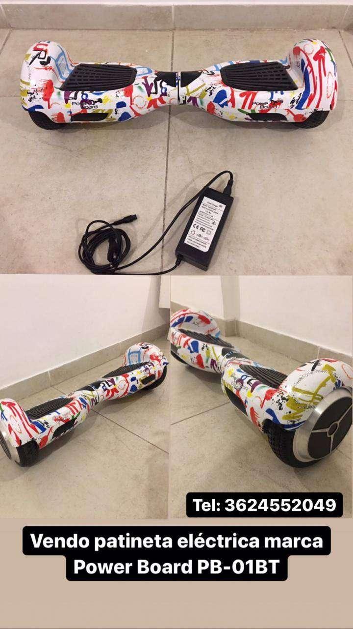 Patineta Eléctrica Power Board Con Bluetooth 0