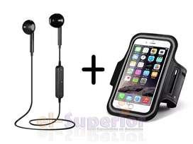Combo Auriculares Bluetooth Brazalete Earbuds Iphone Samsung Lg Ipad Motorola