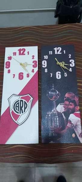 Para regalar o regalarse cuadros reloj de cuadros de futbol River boca Racing Independiente muy lindos