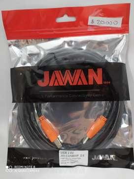 Cable de impresora jawan de 3m