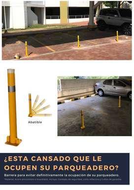 Barrera bloqueadora de parqueaderos