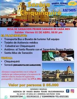 TOUR MISA DE SANACION SORACA SALIDA ABRIL 3