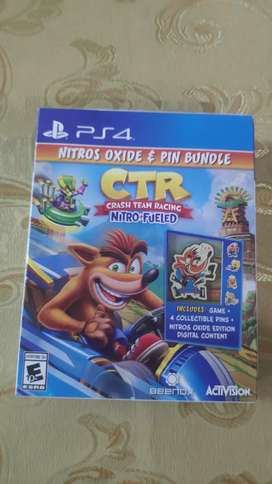 Crash Team Racing Nitro Oxide + Pin Bundle PS4