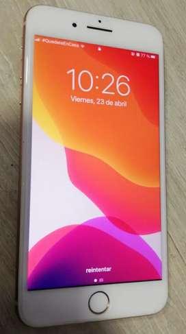 Iphone 8 plus, dorada-rosa.