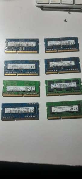 Memoria ram DDR3 4GB Portátil