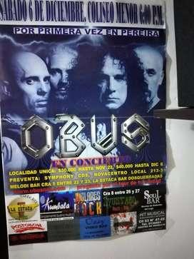 Poster Primer Concierto Obus Pereira Año 2008