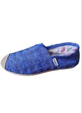 Alpargatas M&T Con Bordado Color Azul con envio gratuito