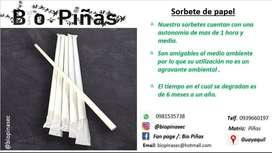 SORBETES DE PAPEL (BIODEGRADABLE)