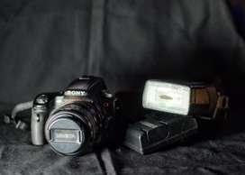Sony a55 Lente Minolta 35-88 Flash TTL