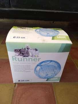 Esfera azul acrílica hamster