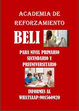 Clases particulares ACADEMIA DE REFORZAMIENTO BELI
