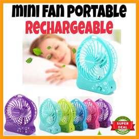Ventilador Mini Portable Recargable Usb 3 Velocidades