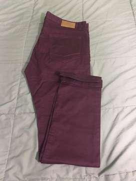 Pantalon dril Sfera Men color uva oscuro Nuevo talla 36