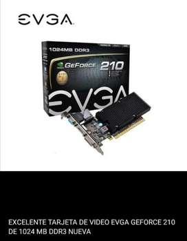 Tarjeta de video EVGA GEFORCE 210 de 1Gb de ram DDR3 NUEVA