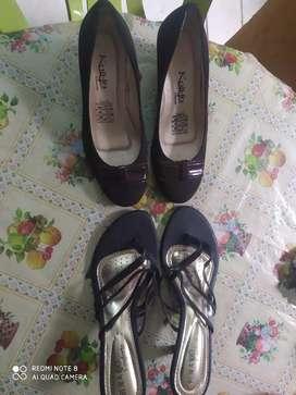 Vendo 2 pares de zapatos sin usar NRO 35 y el de tacón 37