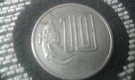 Moneda Uruguaya De 10 Pesos Del Año 1981