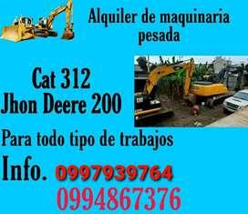 Se Alquila Excavadoras CAT 312 y JOHN DEERE 200