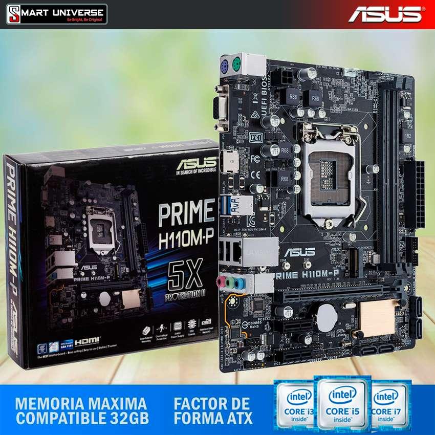 Mainboard Asus H110mP  Lga 1151 Core I3, I5, I7 7ma Gen DDR4 HDMI VGA 0