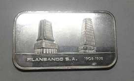 Filanbanco S.a 1908 - 1978! One Troy Ounce - Plata 0,999