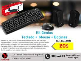 Kit genius mouse teclado y bocinas