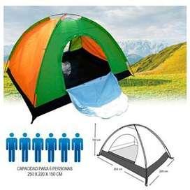 Carpa Camping Picnic Time Para 6 Personas Multicolor Acampar (PRODUCTO NUEVO)