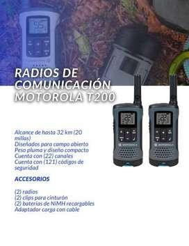 RADIOS DE COMUNICACION MOTOROLA T200