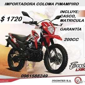 VENDO MOTO LONCIN 200CC ENDURO, PRECIO $ 1720 INCLUYE MATRÍCULA, CASCO Y GARANTÍA