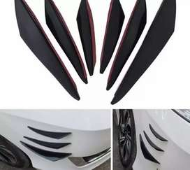Lip bumper spoiler cuchillas x6 para cualquier vehiculo 3m